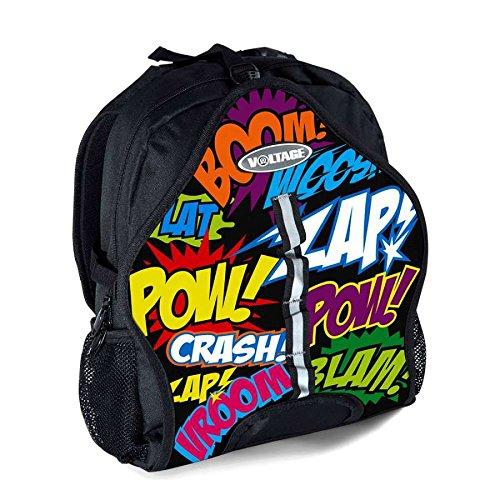 Voltage Unisex-Erwachsene Skate & Skateboard Bag Stofftasche, Schwarz (Negro), 24x15x45 Centimeters - Laptop 24 X Cd