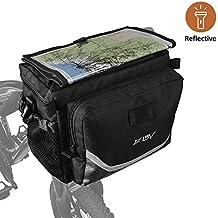 BV Fahrrad Karte Sleeve schnellverschlussbetätigung Front Korb Rahmen Tube Lenkertasche mit zwei Netztaschen, Bike Tasche für Mountain, Road, MTB, Klapprad