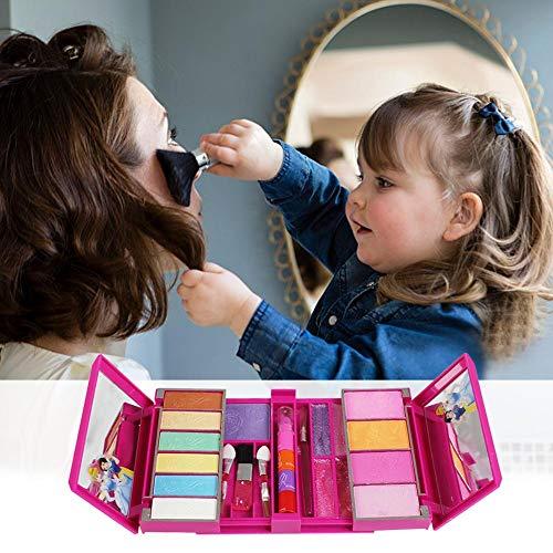 chminkkoffer Schminkkoffer Koffer Schminkset Kinder Schminkkoffer Mädchen Schönheit Spielzeug Geschenk für Kinder 22 PCS Für Disney Princess ()