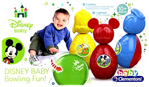 Clementoni 17096.8 - Disney Bowling Set, Babyartikel