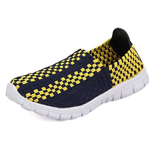 SEVENWELL Hommes Femmes Confortable Espadrilles Tissées Respirantes Slip sur Chaussures De Marche Plat Active Mocassins Plats