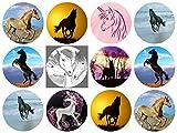 12 Stück Muffinaufleger Muffinfoto Aufleger Foto Bild Pferd rund ca. 6 cm (9) *NEU*OVP*