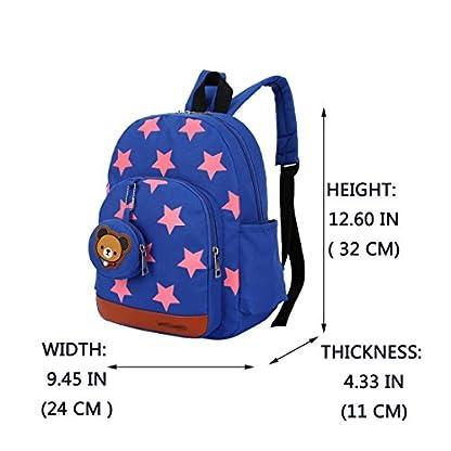 51iBcSNemnL. SS416  - Mochila para niños,Bolsos de escuela para niños Mochila de mochila de niño pequeño Bolsas preescolares de guardería Cute Star Bear (3-7 años de edad)