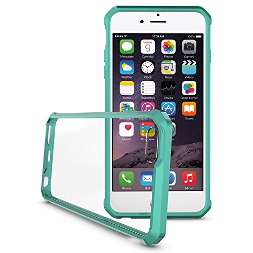iPhone 6 Plus/6S Plus 5.5 Hülle, Voguecase Transparent Schutzhülle / Case / Cover / Hülle / 2 in 1 TPU+ PC Gel Skin für Apple iPhone 6 Plus/6S Plus 5.5(transparent) + Gratis Universal Eingabestift grün