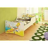 Best For Kids Cama para niños con colchón de 10cm, certificado TÜV, selección de 8tamaños, diversos diseños