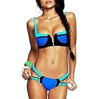 Peily® da Donna 2pcs Colore Bikinis Costumi da bagno Push up Costumi interi Diving Suit Mare e piscina Swimsuit Beachwear Sportswear