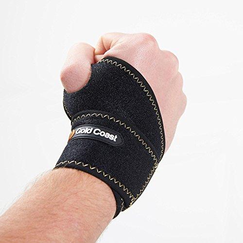 Gold Coast Einstellbares Atmungsaktives Neopren Hangelenk / Daumen / Hand Arthritis Sport Unterstützungs-Bandage (Arthritis Daumen-unterstützung)