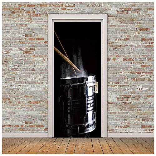 Zhoudd Türaufkleber 3D 77x200cm Tür Poster Fototapete DIY Büro Wohnkultur Poster Dekoration Bongo