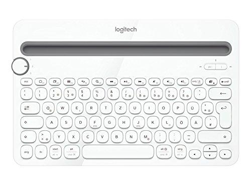 Logitech K480 kabellose Bluetooth-Tastatur für Computer, Tablet & Smartphone (QWERTZ) weiss