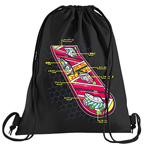 T-Shirt People Hoverboard Skateboard Sportbeutel - Bedruckter Beutel - Eine schöne Sport-Tasche Beutel mit Kordeln Zukunft Flux Delorean DMC