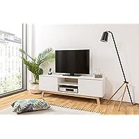 TV Board skandinavisch   Lowboard mit Kabeldurchlass   Breite 150 cm - bis 68 Zoll   inkl. Wandmontagematerial preisvergleich bei kinderzimmerdekopreise.eu
