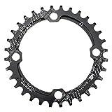 Kettenblatt 32Z 104 BCD Fomtor schmal breit Kettenblätter für 9 10 11 Speed für Fahrrad Road Bike Mountain Bike BMX MTB (rund, rot)