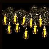 Vintage Lichterkette Glühbirne - 10 LED / Timer - Deko Girlande Retro Kette