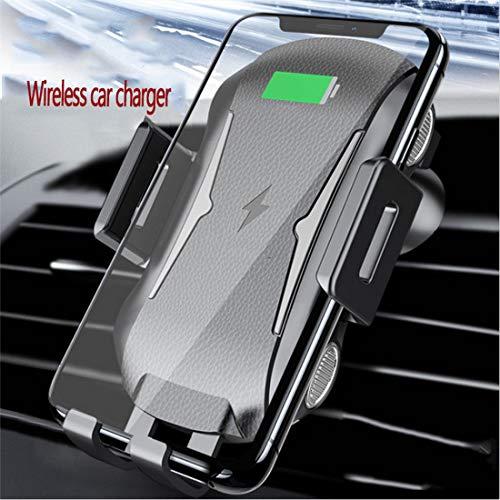 RUNNG Caricabatteria per Auto Wireless con Ricarica Rapida Qi, Funzionamento Automatico con Una Sola Mano 7.5W / 10W, Installazione del Telefono Mobile Vent