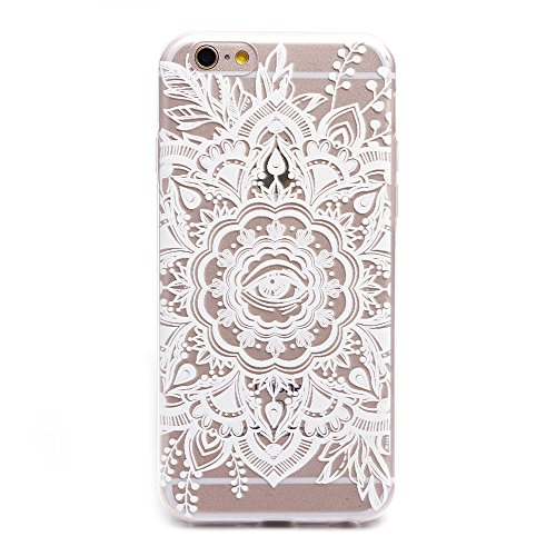 "iProtect TPU Schutzhülle Apple iPhone 6 6s (4,7"") Soft Case - flexible Hülle in transparent Avocado Design Softcase Eye of the flower"