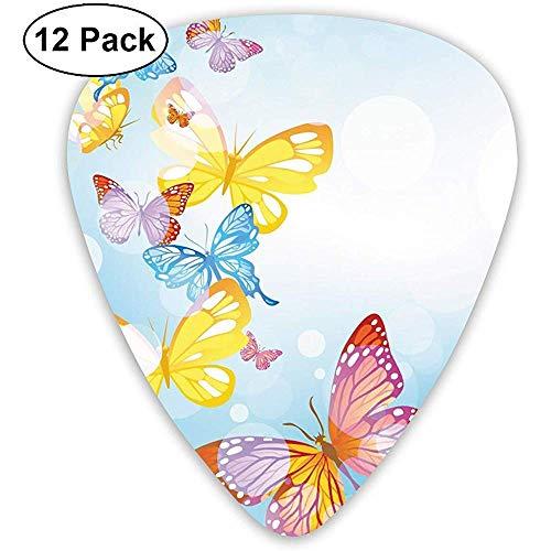 Klassische Plektren Butterfly Image Plektren Instrument Standard Bass 12er Pack