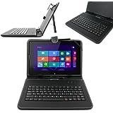 DURAGADGET Funda / Teclado ESPAÑOL Con Letra Ñ Para Tablet BQ Tesla W8 Con Conexión MicroUSB + Adaptador MicroUSB-USB+ Lápiz Stylus - Función Atril