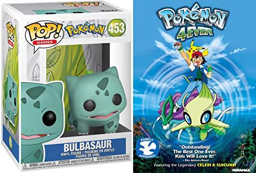 Celebi Pokemon Hunter 4Ever Cartoon Movie DVD Adventure + Bulbasaur Pop Figure Vinyl Character 2 Pack