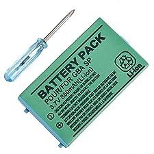 Link-e ® - Batterie 3.7V 850mAh pour console portable Nintendo GBA SP (tournevis inclus)