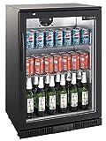 Flaschenkühlschrank mit Klapptür Kühlschrank Getränkekühlschrank Gewerbekühlschrank 138 Liter Gastrokühlschrank
