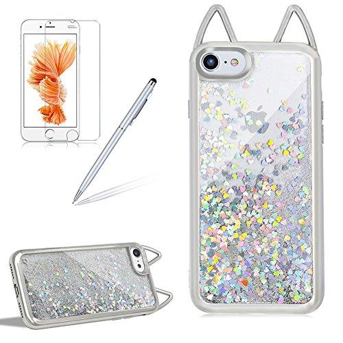 Sparkling Custodia per iPhone 6 / iPhone 6S Scintillante Liquido Brillantini - Girlyard Bling Glitter Acqua Water Quicksand Caso Copertura con Amore ...