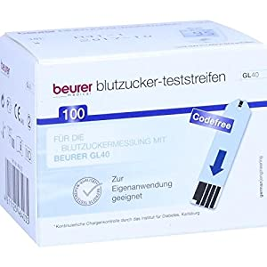 Beurer Gl40 Blutzuckerteststreifen 100 stk
