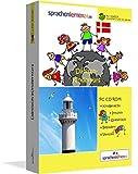 Dänisch-Kindersprachkurs von Sprachenlernen24: Kindgerecht bebildert und vertont für ein spielerisches Dänischlernen. Ab 5 Jahren. PC CD-ROM für Windows 10,8,7,Vista,XP / Linux / Mac OS X