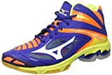 Mizuno Wave Lightning Z3 Mid, Scarpe da Ginnastica Uomo, Multicolore (Surf The Web/White/Orange Clown Fish), 46 EU