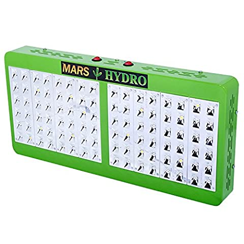 MarsHydro Reflector 480W LED Grow Lights True Watt 200W-205W Full Spectrum With Dual Veg & Flower Switches for Greenhouse and Indoor Hydroponic Plant Flowering Growing Less Heat and Bigger