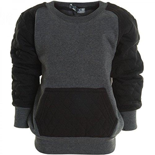 BEZLIT -  Felpa con cappuccio  - Camicia - Collo a U  - Maniche lunghe  - ragazzo Antracite 10 anni