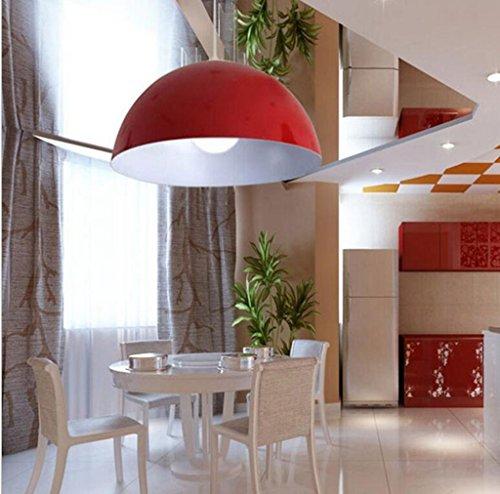 San Tai@Lampada lampadario a sospensione design retrò,rosso,ferro,50cm