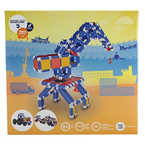 Preisvergleich Produktbild Dieser Baukasten besteht aus 713 Teilen, mit denen das Kind  einen Mähdrescher mit einer mechanische Getriebe oder auch ein Auto aber auch ein Karussell oder ein Haus und auch ein Flugzeug konstruieren kann.