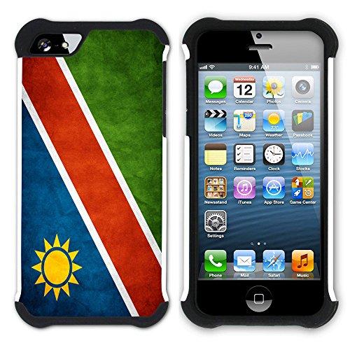 Graphic4You Vintage Uralt Flagge Von Senegal Senegalesisch Design Hart + Weiche Kratzfeste Hülle Case Schale Tasche Schutzhülle für Apple iPhone SE / 5 / 5S Namibia Namibisch