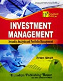 Investment Management: Security Analysis and Portfolio Management (PB)....Singh P