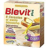 Blevit Plus Duplo 8 Cereales Al Estilo Bizcocho - Paquete de 2 x 300 gr - Total: 600 gr