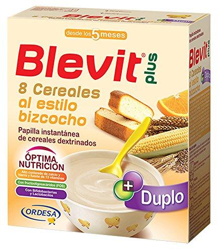 Blevit Plus Duplo 8 Cereales Al Estilo Bizcocho - Paquete de 2...