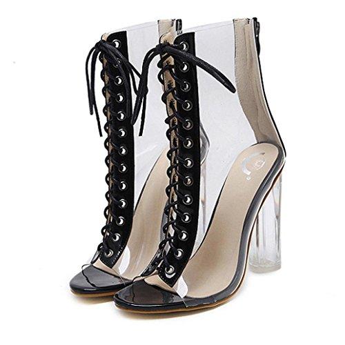 Malloom® Römische Schnalle Schuhe Frauen Sandalen Sexy Sandalen High Heels Frau Stiefeletten Römersandalen mit Hohen Absätzen