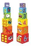 Viga Toys - Steck- und Stapelwürfel