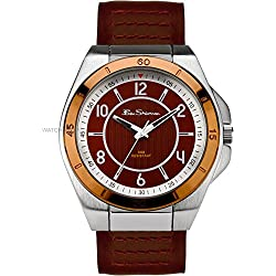Ben Sherman Rose Gold Bezel Brown Strap Watch R928