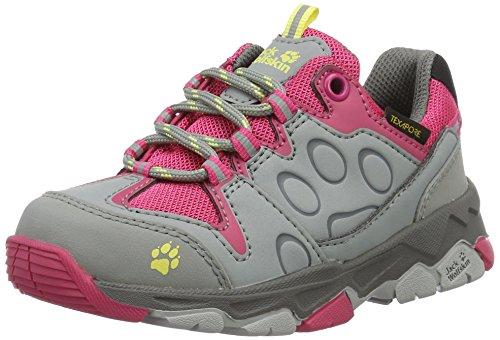 Jack Wolfskin Unisex-Kinder MTN Attack 2 Texapore Low K Trekking-& Wanderhalbschuhe, Pink (Tropic Pink 2145), 34 EU