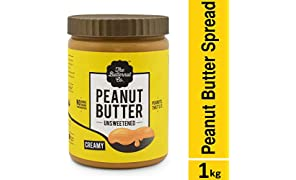 The Butternut Co. Unsweetened Peanut Butter - Creamy, 1 Kg Pack