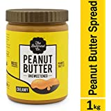 The Butternut Co. Unsweetened Peanut Butter - Creamy, 1 Kg Pack