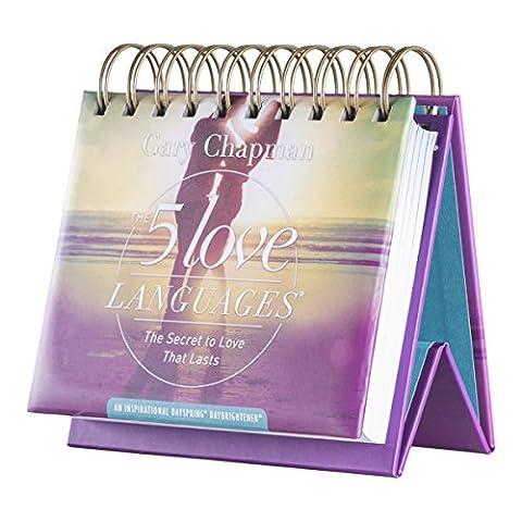 DaySpring 5 Love Languages, Dr.Gary Chapman, Flip Calendar, 366 Days of Scripture & Inspiration