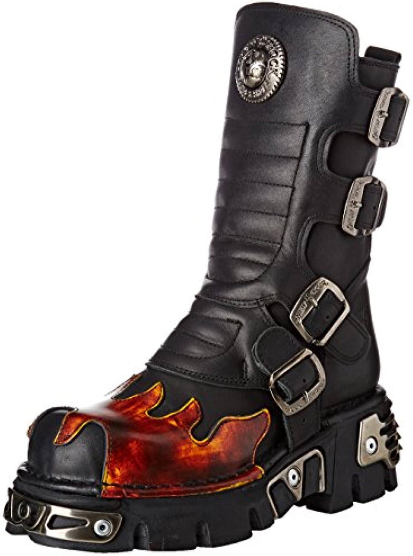 New Rock Unisex-Erwachsene M-591x-s1 Biker Boots, Schwarz, UK 3.5, UK 3.5