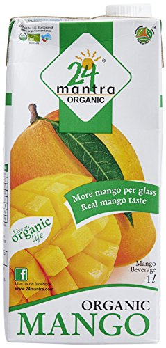 24 Mantra Organic Mango Juice, 1 Liter  available at amazon for Rs.75