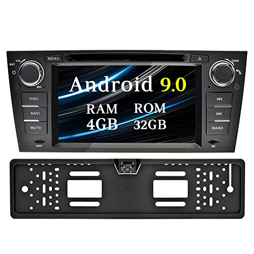 Ohok 1 Din Android 9 0 Car Radio for BMW 3 Series/E90 E91 E92 E93 Octa Core  Stereo 4G+32G Sat Nav Support DVD Player GPS Navigation Bluetooth Android