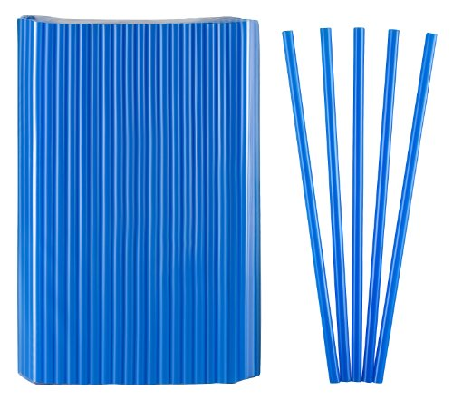 Kigima Strohhalme, Trinkhalme Jumbo blau 150 STK 25cm lang Durchmesser 8mm