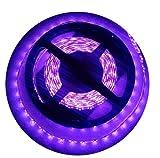 UV LED Lumière, CORST Ultraviolet Lumiere Bar Noire UV Blacklight 5M SMD 3528 300 LED UV lumière bande lumineuse flexible