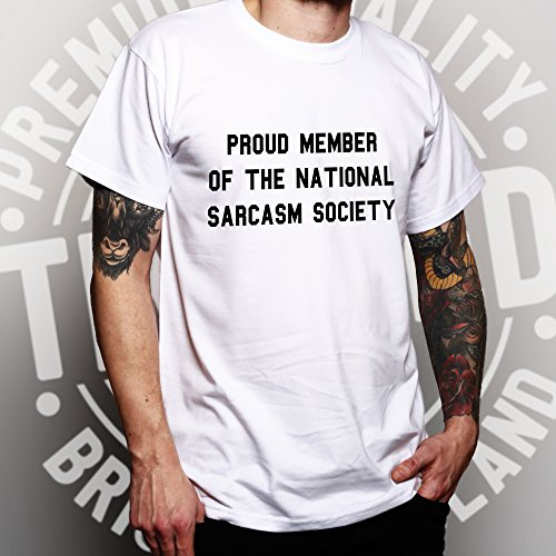 Stolzes Mitglied der nationalen Sarkasmus-Gesellschaft lustiger Slogan Sassy Herren T-Shirt Red