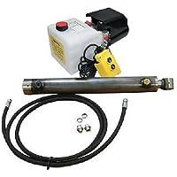 Flowfit Hidráulico 12VDC sencillo actuando remolque kit para elevador 3.9 Tonelada, 700mm movimiento del cilindro